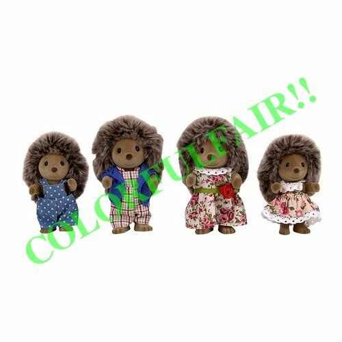 VILLAGE STORY Family of hedgehogs  4 figures