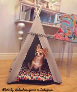 Dog Teepee bed dog bed including pillow*luxury dog house*dog tent Zebra