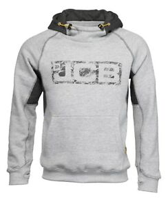 Details zu JCB Horton Hoodie Grey & Black (Sizes S XXL) Work Hooded Jumper Trade Hoody Mens