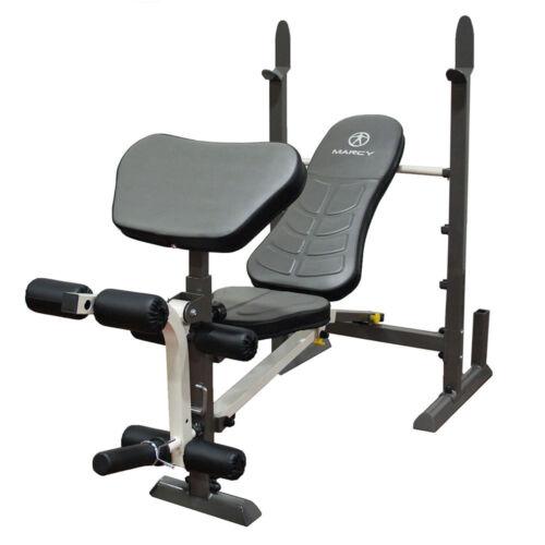 Folding Standard Weight BenchMarcy MWB-20100 Leg Developer Preacher Curl Pad