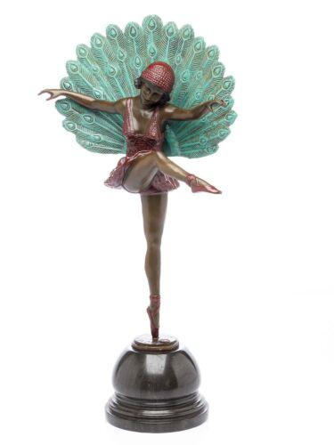 Statuette de ballerine - style art déco - bronze - 56 cm