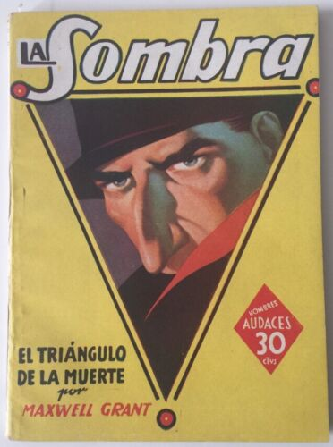 1942 The Shadow Pulp La Sombra Printed In Argentina In Spanish