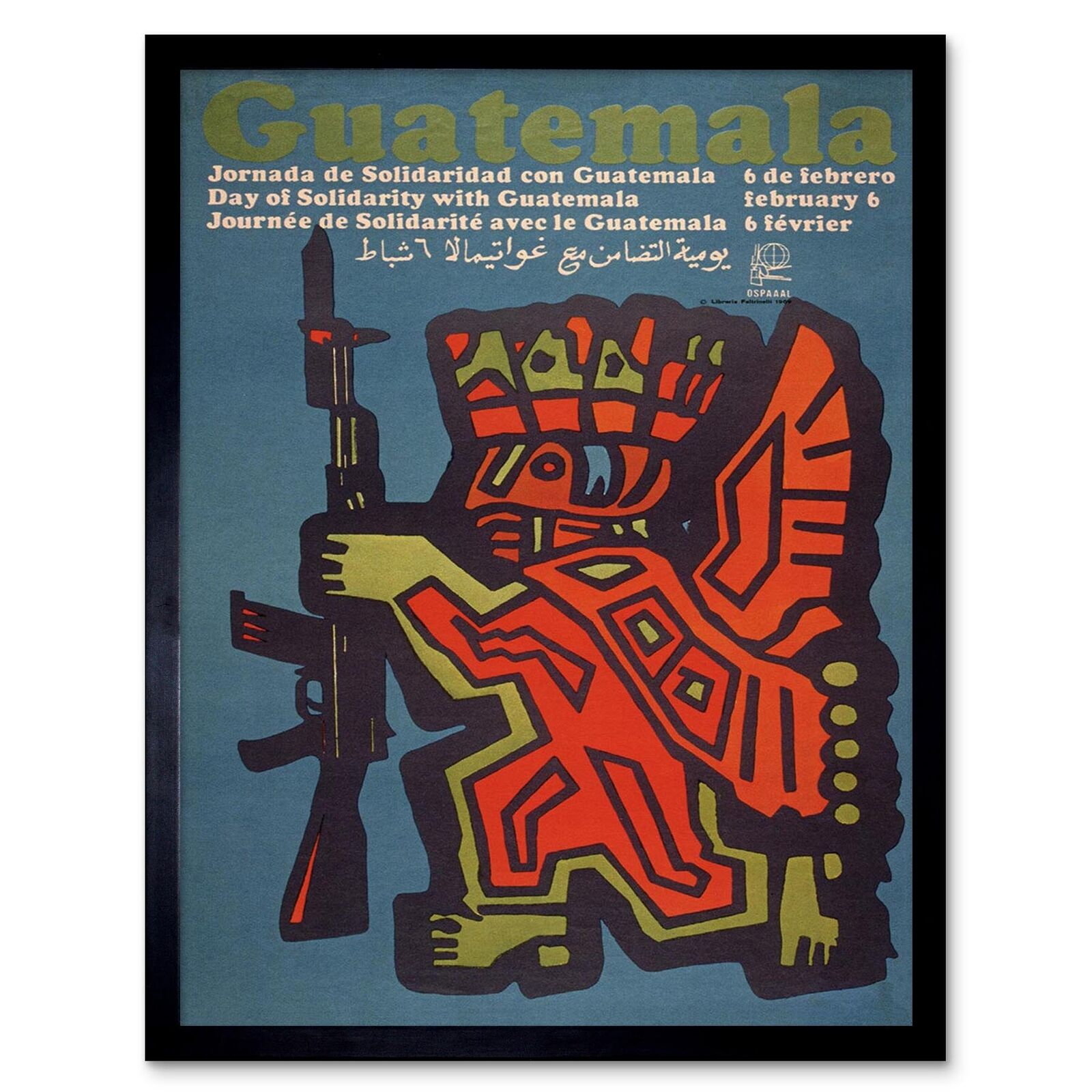 "Political OSPAAAL POSTER/""Guatemala/""Cold War Socialism.Revolution Art.27"