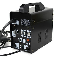 MIG-130 Flux Core Wire Welder Welding Machine w/ Cooling Fan Face Mask 110V