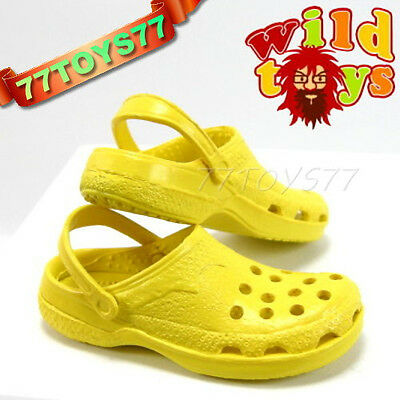 Wild Toys 1/6 Clogs_ Yellow_ Sandel Fashion Shoes ACI WT006F