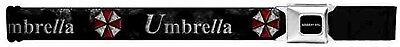Resident Evil Seatbelt Belt Umbrella Red & White Logo on Weathered Black New