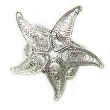 Anello stella marina in argento stile filigrana sarda - Starfish silver  ring