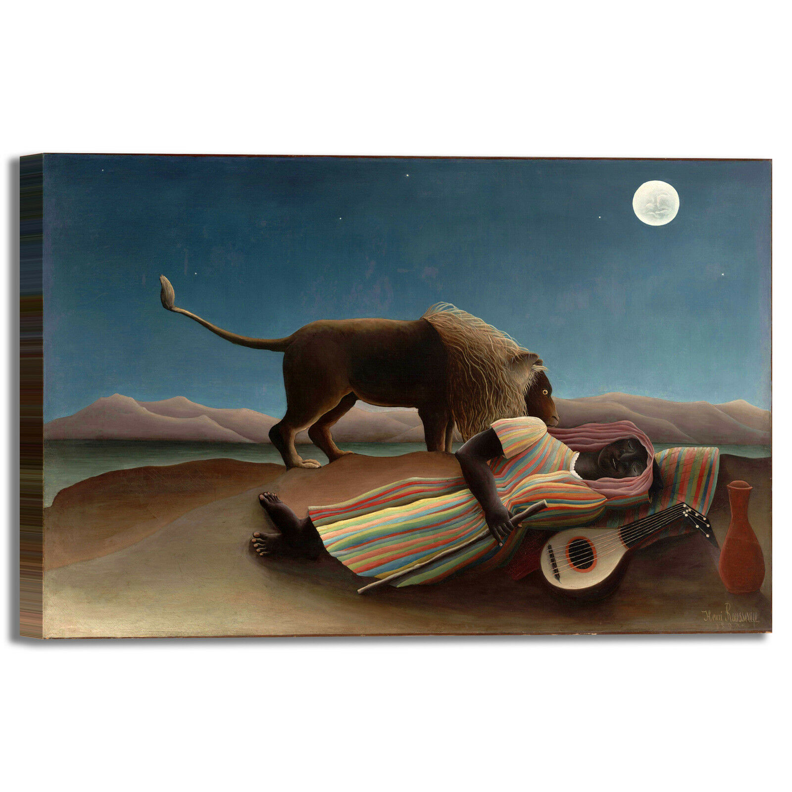 Rousseau zingara addormentata quadro stampa tela dipinto telaio arrossoo casa