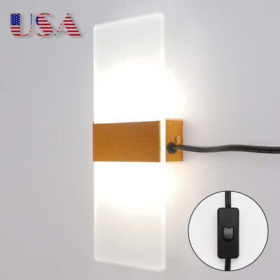 Modern LED Wall Sconce Wall Light Plug in Cord with on/Off ...