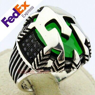 Spartan Roman Mask 925 Sterling Silver Helmet Ruby Handmade Men/'s Luxury Ring