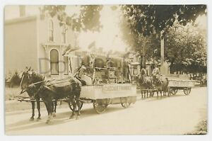 RPPC-Cascadee-Foundry-Floats-Advertising-Parade-ERIE-PA-Real-Photo-Postcard