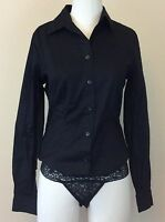 Moda International Black Long Sleeve Shirt W/ Lace Underwear Size Small
