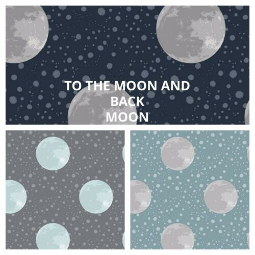 THE MOON PATCHWORK// CRAFT FABRIC  LEWIS /& IRENE TO THE MOON AND BACK