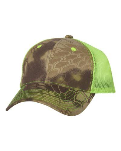 Outdoor Cap Camo Trucker Hat with Neon Mesh Back CNM100M Baseball Hat NEW