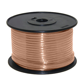 Wire 14 AWG Tan 100ft Roll UL Fine Strand Tinned Copper