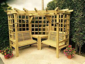 Corner Arbour Garden Seating