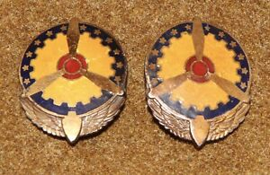 Pair-Of-WWII-USAAF-Air-Service-Command-DUIs-LeVelle-amp-Co-Sterling