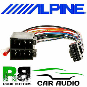 alpine cde 133bt car radio stereo replacement wiring harness loom iso lead ebay. Black Bedroom Furniture Sets. Home Design Ideas