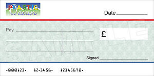 giant blank company large cheque for charity / presentation, Powerpoint templates