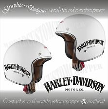 ADESIVO DECAL STICKERS REPLICA HARLEY DAVIDSON MOTOR CO. CASCO MOTO CUSTOM