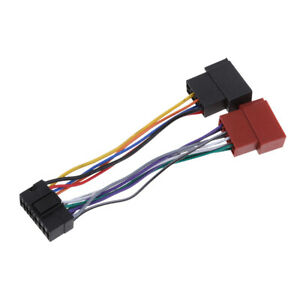 Voiture-Radio-Stereo-Cable-Fil-Harnais-CD-Plug-pour-JVC-16-broches-ISO