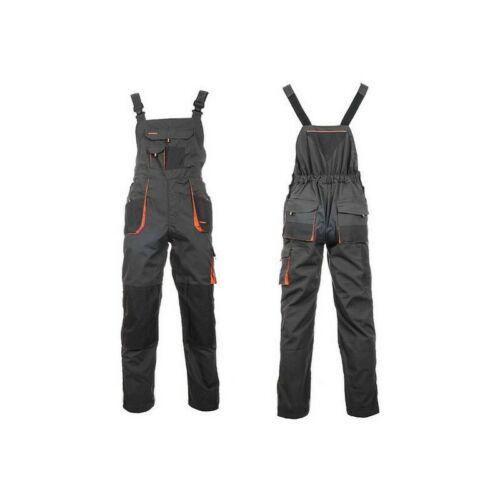 New Bib and Brace Overalls Mens Work Trousers Bib Pants Knee Pad Multi Pocket