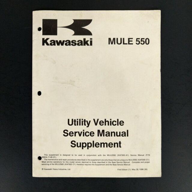 Kawasaki Mule 550 Utility Vehicle Service Repair Manual