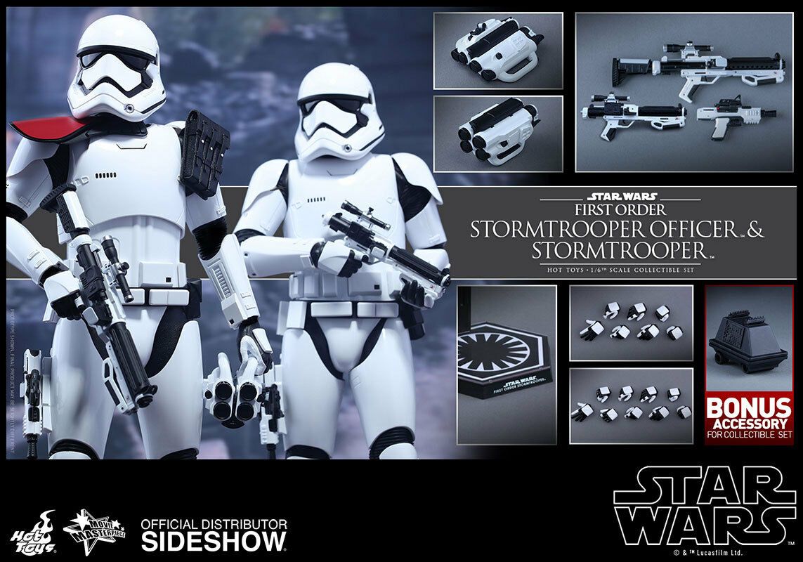 HOT HOT HOT TOYS 12  STAR WARS FIRST ORDER STORMTROOPER OFFICER SET 1 6 SCALE FIGS TFA 3a2e57