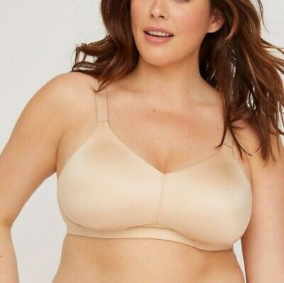 Catherines $49 No Wire Back Smoother Bra Black