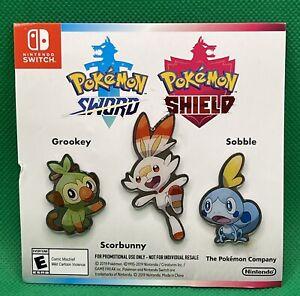 Nintendo Switch Pokemon Sword Shield Pin Backs