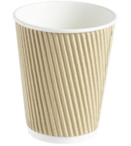 200 200 200 X 20 OZ (approx. 566.98 g) papel marrón tazas de café Kraft Ondulación 3 capas aislado para té 5ffb9e