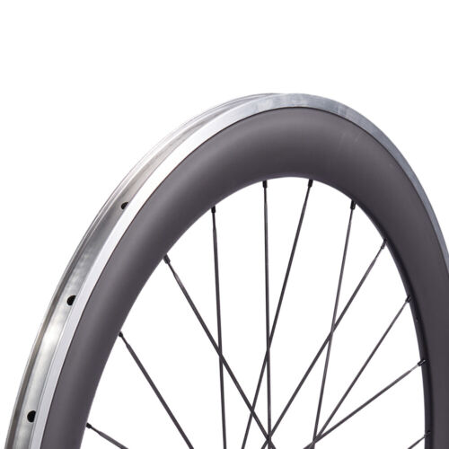 Details about  /60mm Road Bike Carbon Wheels Alum Alloy Brake Straight Pull R36 Bicycle Wheelset