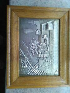 Zinnbild Wandbild - Rahmen aus Eichenholz - Handarbeit - Büddenstedt, Deutschland - Zinnbild Wandbild - Rahmen aus Eichenholz - Handarbeit - Büddenstedt, Deutschland
