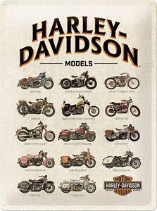 HARLEY-DAVIDSON-MOTO-D-039-EPOCA-MOTOCICLETTA-RANGE-L-3D-metallo-goffrato-firmare