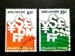 Singapore-1981-Monetary-Authority-Financial-Centre-Loose-Set-Short-75c-2v-Used