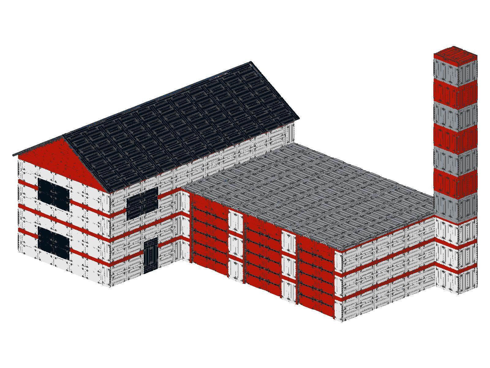 Bauanleitung instruction Feuerwehrwache 42068 Eigenbau Moc Unikat a Lego Technic