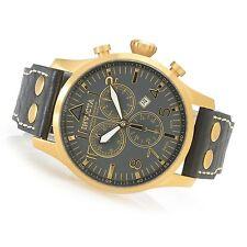 New Invicta Reserve 47mm Swiss Made Quartz Chronograph Leather Strap Watch 19752
