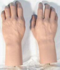 Pair Male Hands Life Size Lifelike Flesh Tone Brand New Mannequin Manikin Dummy