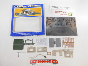 CT206-1# Pola H0/1:87 100 Szenorama, leichte Mängel, Tankstelle + Auto-Reparatur