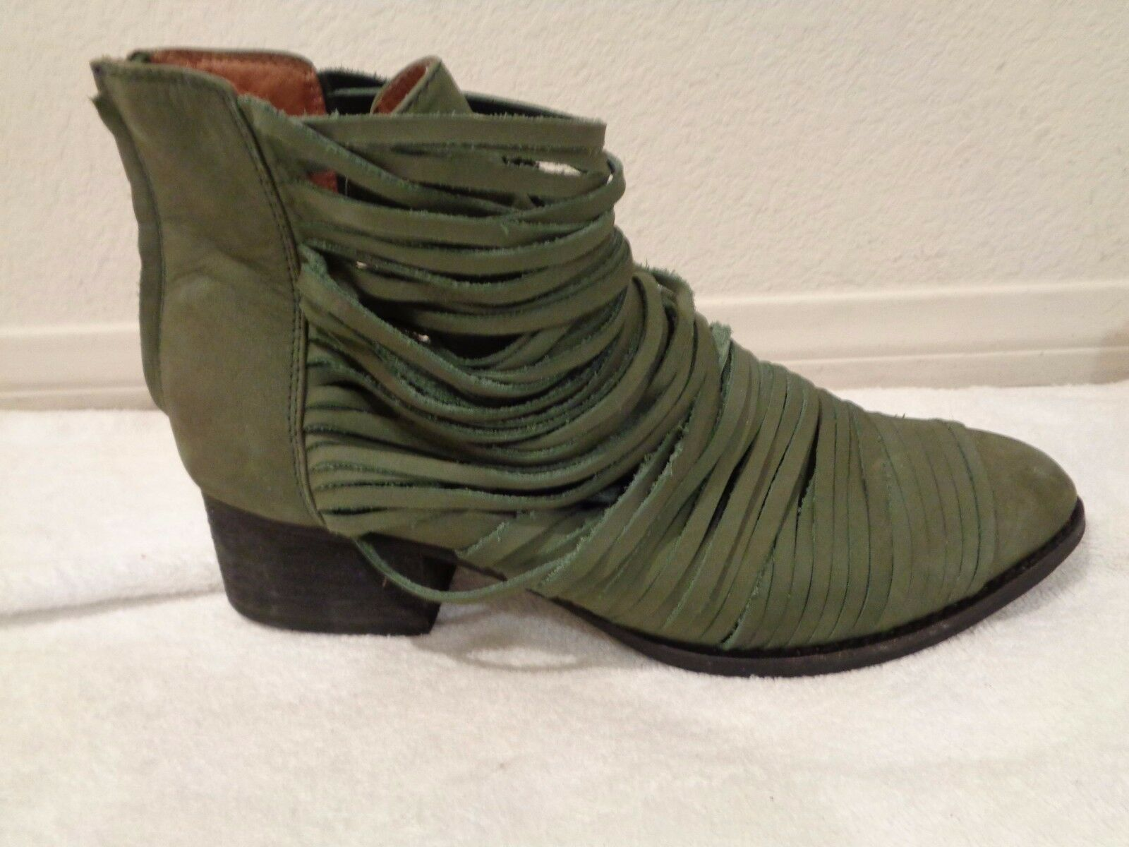 Jeffrey Campbell for Free People Hybrid Strappy Leather avvioie Olive SZ 9