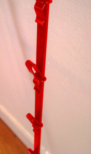 Candy /& Snack Display Rack New Single Strip 12 Clip Hanging Potato Chip Red