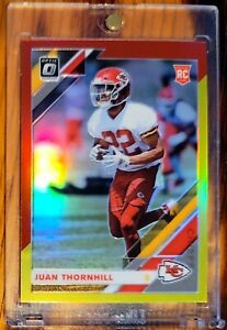 Juan THORNHILL 🔥 CHIEFS 🏈 2019 PANINI OPTIC RC *RED YELLOW* PRIZM ROOKIE CARD
