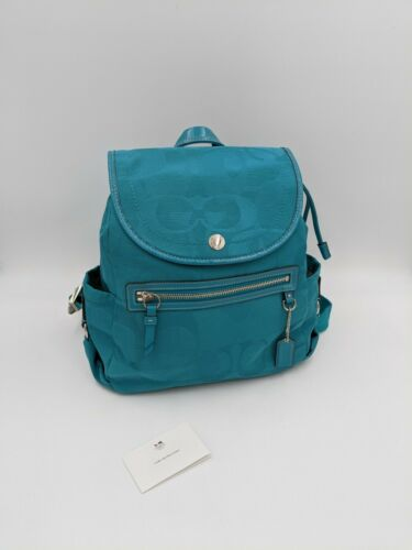 Coach Kyra signature backpack light blue #19673