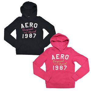 Aeropostale-Aero-Women-039-s-Pullover-Hoodie-Jacket-Graphic-Sweatshirt-New-V077