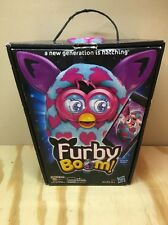 Furby Boom 2013 PURPLE PINK Interactive Plush Toy Hasbro ~ NEARLY NEW w/BOX