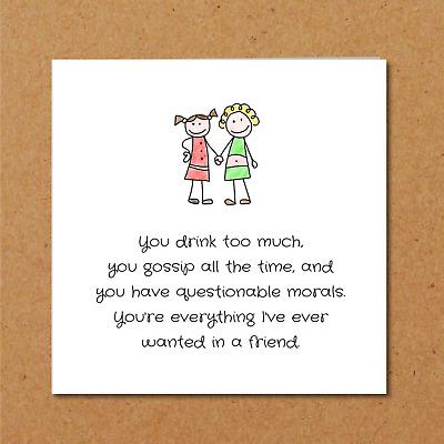 Home Furniture Diy Bff Birthday Card Best Friend Flatmate Girl Female Funny Amusing Fun Humorous Kisetsu System Co Jp
