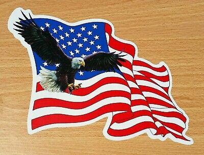 Sticker decal art wall car moto biker usa american flag united states eagle