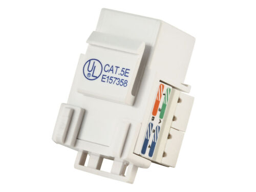 10x Cat5e Punch Down Network Snap-in Insert Jack for Keystone Wall Plate White