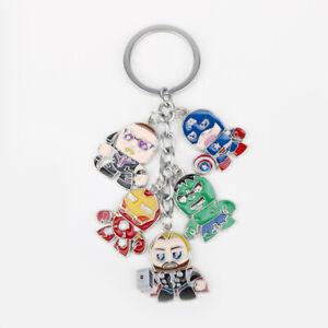 Marvel-Avengers-Hulk-Thor-Comic-Enamel-Funny-Novelty-Keyring-Keychain-Gift-Bag