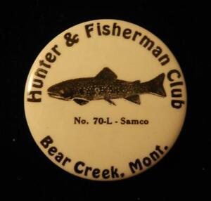 USA, c. 1950 Montana - Hunter & Fisherman Club - Large Pin-back